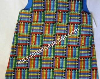 Crayons Dress Girls Size 3T