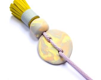 Citrus Swirl • Tassel Necklace