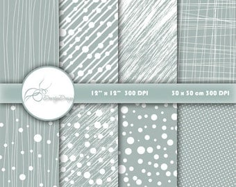 Dots Stripes Digital Paper Pack, Digital Patterns, Dots Stripes Scrapbooking paper pack, Scrapbook Paper Dots Stripes #B