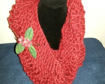 Red with silver highlights cowl