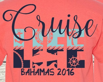 Monogrammed CruiseLife Cruise Vacation Destination Family Personalized Tee T-Shirt S - 6XL
