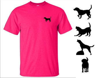 Crafty beagle kids t shirt in pink
