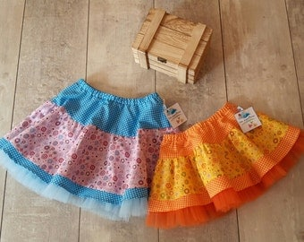 girl skirt cotton and tulle