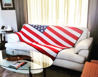 American Flag Quilt - American Flag - Patriotic Flag Quilt - USA Quilt - Red White and Blue Quilt - America Quilt - July 4th Quilt
