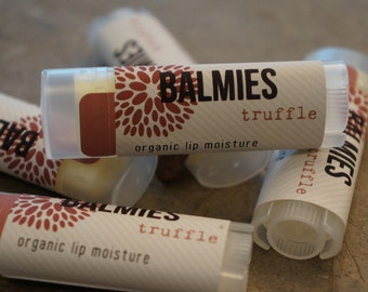 Truffle organic lip balm // Balmies // Gifts for her // Birthday gift // Valentine's gift // Party favor