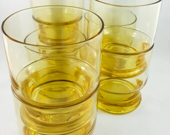 Yellow Gold Glass Whiskey Glasses