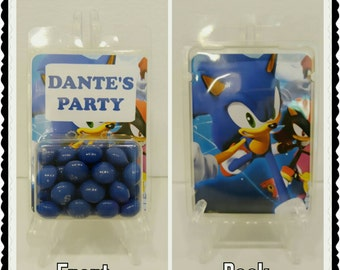 Sonic Hedgehog--Personalized Custom Party Favor Packages/Containers—Kid's Parties/Children's Party Accessories--Any Theme—Any Character