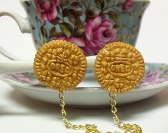 Golden Oreo Collar Clips