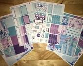 Purple Daze Vertical Weekly Kit Planner Stickers for Erin Condren LifePlanners