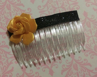 "Gold Rose Hair Comb, ""Stella"""