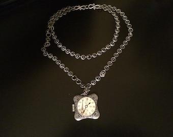 French Pocket Watch Locket.