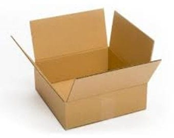 """Shipping Boxes 25 Pack 12"""" x 12"""" x 6"""" Single Wall 32 ECT Shipping Box, Storage Box, Moving Boxes"""