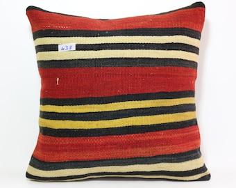 anatolia striped kilim pillow 20x20 inches kelim kissen home decor room decor striped pillow bed pillow bohemian pillow cover SP5050-438
