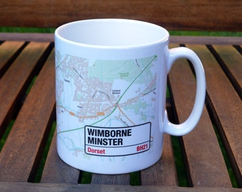 Personalised Street Map Mug of Your City or Town