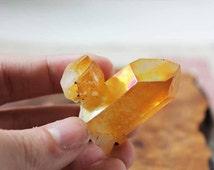Golden Healer Quartz Crystal Cluster Specimen | Golden Healer Quartz Crystal | Golden Healer Quartz Point | Golden Quartz | Boho Decor