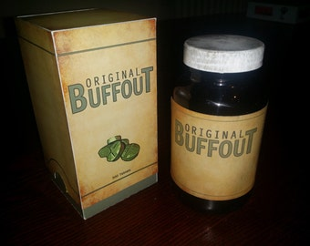 Fallout 4 Buffout Glass Bottle and Box - Cosplay Prop Accessories