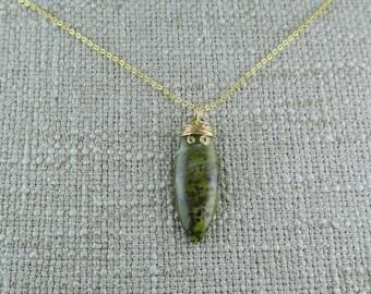 African Green Opal Pendant