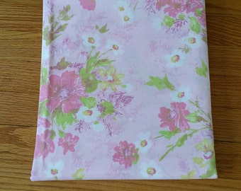 Vintage Pink Floral Full Size Flat Sheet Fieldcrest 2 Available