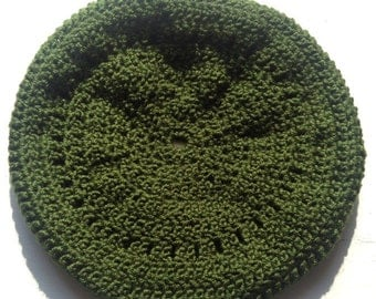 Army green beret style hat