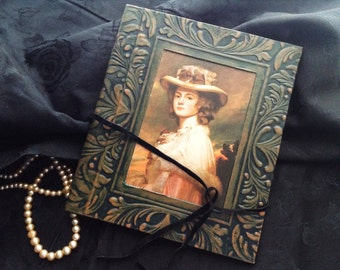 Book cover with woman portrait | vintage photo album cover