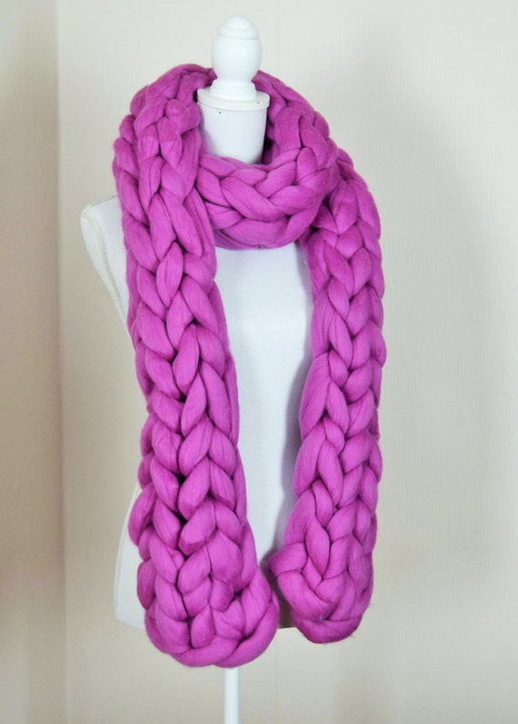 Home > Scarves > 21 Free Knit Scarf Patterns Using Bulky Yarn 21 Free Knit Scarf Patterns Using Bulky Yarn These chunky knit scarf patterns are free and fast to work up.