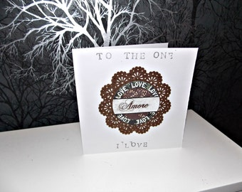 French Style Valentines Card Handmade