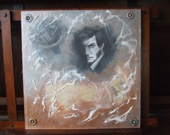 Quentin Collins Haunts Collinwood- original mixed media portrait