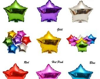"""18"""" Star Balloon Star Helium Foil Balloons 18"""" Star Foil Balloons 18"""" Gold Star Balloon 18"""" Red Star Balloon 18""""  Blue Star Balloon Balloons"""