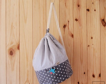 grey sack / Drawstring bag grey
