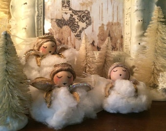 West Texas Cotton Angel Ornaments