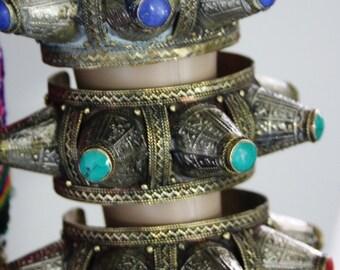 Kuchi Cuff Bracelet Afghan Tribal Spike Cuff Vintage Bohemian Nomadic Cuff Bracelet