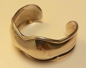 Vintage Sterling Silver .925 Cuff Bracelet Bangle