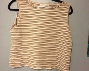 Vintage Fitted Stripped Tank