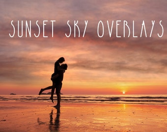 Sunset sky overlays