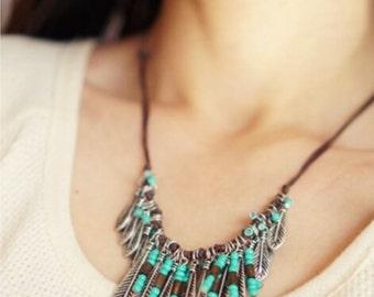 Turkish Ethnic Necklace (Turquoise, Boho)