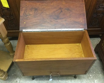 Mid century craft box or sewing box