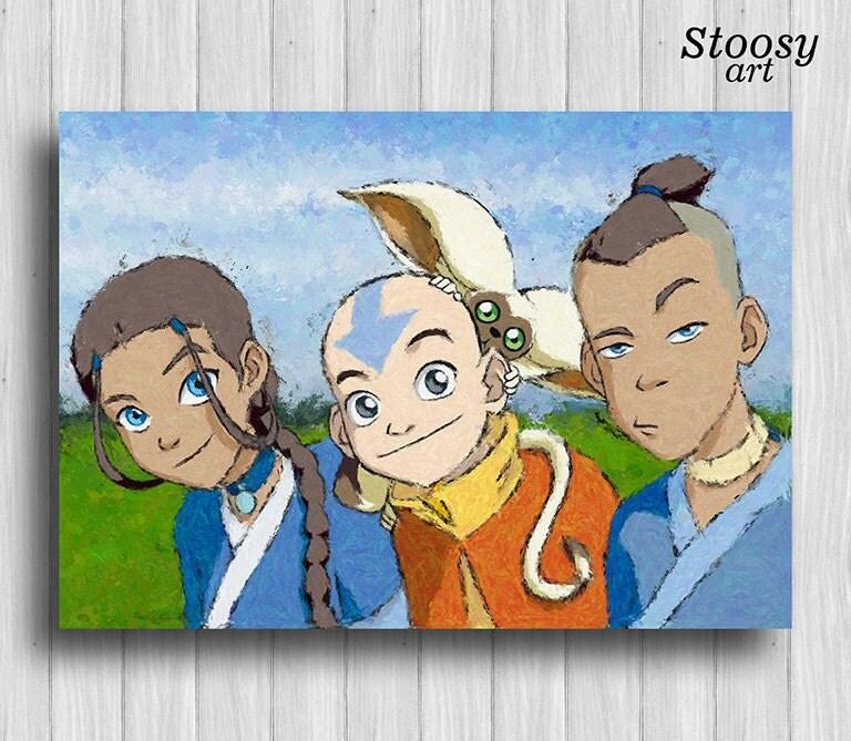 Avatar Movie Poster: Avatar The Last Airbender Poster Katara Aang Sokka Animer Art