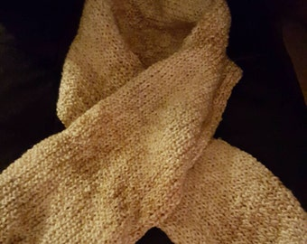 Beige long scarf