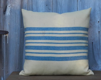 1930s Wool Stripe Pillow Cover