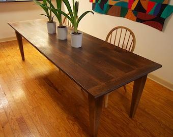 harvest table oak table farm table dining table
