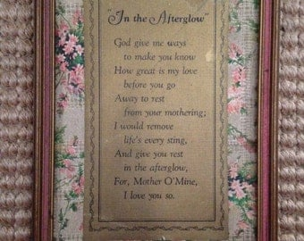 Vintage Framed Mom Poem
