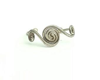 Vintage Sterling Silver Spiral Toe Ring