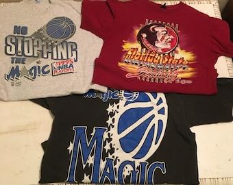 Vintage 1990's Sports T-Shirt Lot Size XL