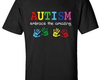 Embrace The Amazing Autism T-shirt Adult and Youth size Tee 100% Cotton Mu714