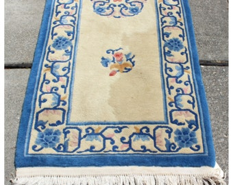 M4281 Vintage Chinese Hand Knotted Rug/Runner/Carpet