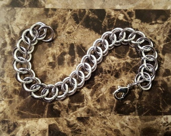 3 IN 1 Half Persian Bracelet in Black Ice & Silver Colors