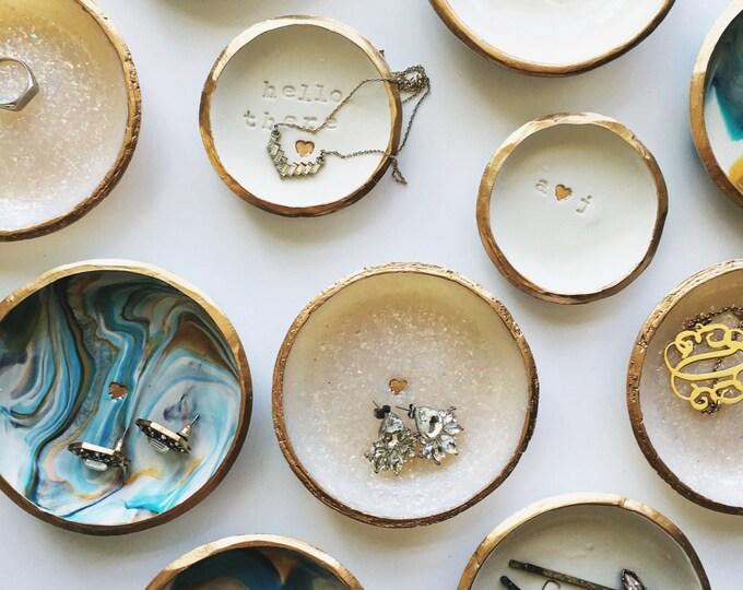 BULK ITEM LISTING // Polymer Clay Ring Dish, Jewelry Dish, Trinket Dish