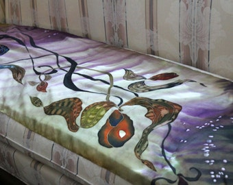 Abstract silk painting, scarf