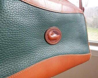 Vintage Hunter Green Dooney and Bourke Shoulder Bag Purse