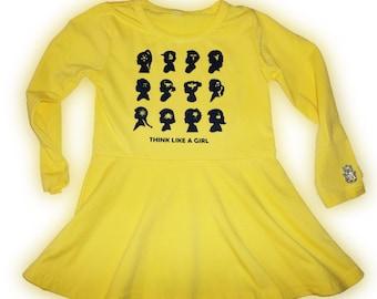Think Like A Girl Tunic Yellow Size 4/5